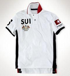 2016 Sommer Polo Shirt Segeln Team Rennen BR KÖNNEN GER ITA Spanien Land Marke Männer Kurzarm Sport T-Shirt Mexiko UAE SUI NW von Fabrikanten