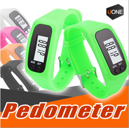 Wholesale Distance Pedometers - Digital LED Pedometer Smart Multi Watch silicone Run Step Walking Distance Calorie Counter Watch Electronic Bracelet Colorful Pedometers