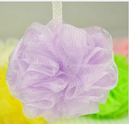 Wholesale Cheap Puffs - 2017 Cheap Mini Bath Shower Body Exfoliate Puff Sponge Mesh Net Ball Bath Sponge Accessories Random Color