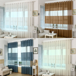 Wholesale French Living - Wholesale-Jacquard curtain punching screens wild striped finished bedroom balcony living room hollow ventilation decorated screens
