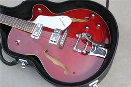 private aktiengitarren Rabatt Nagelneues hochwertige Custom Shop Wine Red Falcon 6120 S Semi Hollow Body Jazz E-Gitarre Chrom Hardware Kostenloser Versand