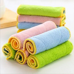 Wholesale Dish Washing Cloth - Microfiber Washing Towel Magic Kitchen Cleaning Wiping Rags Multi colors Wholesale Dish Cloth 500 PCS YYA905