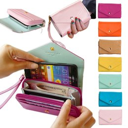 Wholesale Iphone S Cell - Wholesale- Women Brand women\'s Wallets Famous brand Designer Leather Purses Multi Colors Card Holder Women Phone Wallets for iphone 5 5s