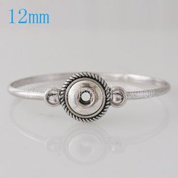 Wholesale Men S Metal Jewelry - Wholesale-Hot Sale 12mm snap buttons for Snap Bracelets metal snap Bangles Charms DIY Jewelry for women men KB0246-S