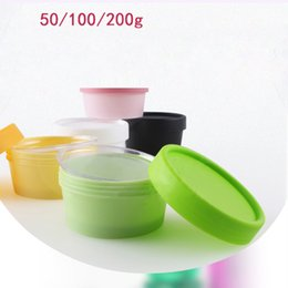 Wholesale Care Cosmetics Products - 10pcs lot Cosmetic Jars wholesale 50g 100g 200g Empty Plastic Constainers with Lids Storage Box Health Care products Refillable
