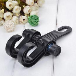 Wholesale Hanger For Car Seat - Wholesale- Double Auto Car Back Seat Headrest Hanger Holder Hooks Car Seat Headrest Hanger Bag Hook Holder For Bag Purse Cloth Car Styling