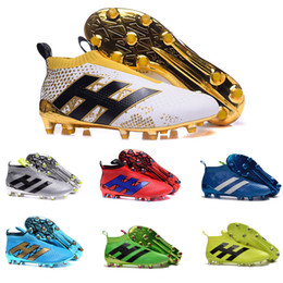 Wholesale Cheap Football Cleats Sale - 2017 New Cheap Discount Ace16+ Purecontrol FG AG Sale Mens Football Boots Womens Outdoor Soccer Cleats A Variety Of Color Soccer Shoes