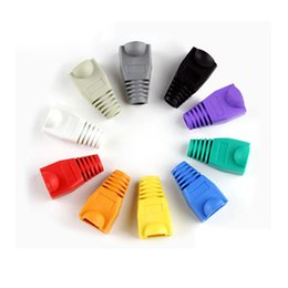 cable boots Coupons - Wholesale- 20pcs 50pcs CAT5E CAT6 RJ45 Plugs Ethernet Network Cable Strain Relief Boots RJ45 Plugs Socket Boot Caps RJ-45 Connector Cover