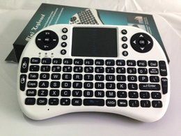 Wholesale Notebook Keyboards - High Quality 92 keys Mini Rii i8 2.4G English Air Mouse Keyboard Remote Control Touchpad for Smart Android TV Box Notebook Free DHL