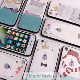 Wholesale Elephant Iphone 3d - Cute Bear Fox Elephant Unicorn Whale 3D Relief Painting Animals Cartoon Soft Phone Case For iPhone 7 7Plus 6 6S 6Plus