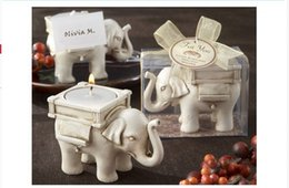Wholesale Candle Bridal Shower Favors - Lucky Elephant Candles Holder Tealight Candle Holder Bridal Shower Party Favors gift banquet table decor 10pcs lot