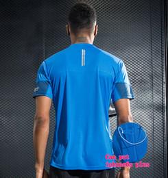 Wholesale Corduroy Shorts Men - Sports Fitness Shirt Men Bodybuilding Jogging Clothing Short Sleeve T Shirt Gym Crossfit Professional Running Jersey With Put Phone Pocket