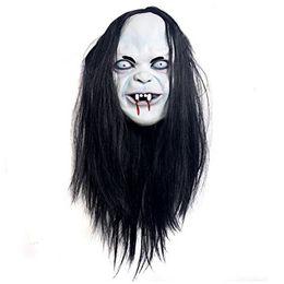 Wholesale Terror Mask Film - Wholesale-Sadako Mask Halloween Stadium   joke   party film   Terror protagonist apparel artificial hair mask and rubber support