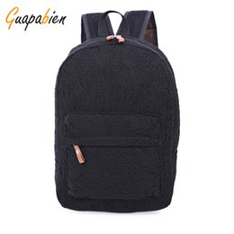 Wholesale Wholesale Fashion Korean School Bag - Wholesale- Guapabien Fashion Korean Preppy Style Lace Canvas Women Backpack Travel Rucksacks Youth Campus Book Bags School Black White Bags