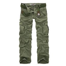 Wholesale Black Military Pants For Men - New 2016 Men's Cargo Pants For Men Military Straight Trousers Casual Cotton Camouflage Long Pants Plus Size 28-40