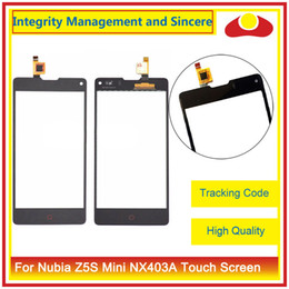 """Wholesale Zte Z5s - High Quality 4.7"""" For ZTE Nubia Z5S Mini NX403A Touch Screen Digitizer Outer Glass Lens Panel Black White"""