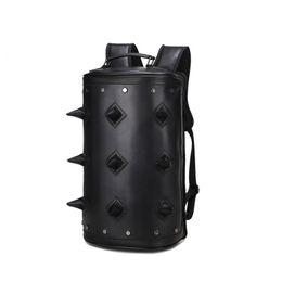 Wholesale Hedgehog Bags - Black Men Women Cool 3D Hedgehog School Bag Backpack Synthetic Leather Embossing Fashion Laptop Travel Rucksack Bags