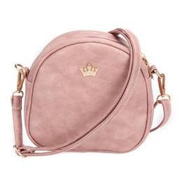 Wholesale Sale Small Purses - Hot Sale New Women Bag Imperial Crown Women Messenger Bag Small Shell Crossbody Bag PU Leather Fashion Designer Handbag Phone Purse