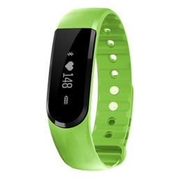 2019 alarme de pouls Bluetooth ID101 Smart Bracelet OLED Pulse Smartband Moniteur de Fréquence Cardiaque Fitness Tracker Bracelet Anti-perte d'Alarme Pour IOS Android promotion alarme de pouls