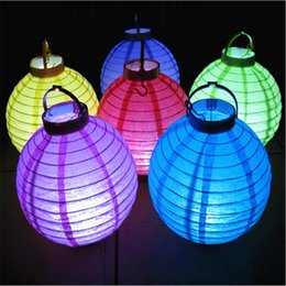 Wholesale Wholesale Battery Operated Lanterns - Hot sale battery operated light up paper lanterns chinese led paper lanterns for wedding party home decorations drop shipping