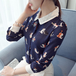 Peter Pan Collar Autumn Women Blouses Plus Size Women Shirts Casual Chiffon Long  Sleeve Tops Feminina Blusas Femme Office Shirt 565bb17af