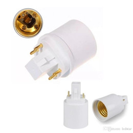 Wholesale Light Bulb Base Adapters - 2 pins or 4 pins G24 male to E27 female G24d G24q to E26 E27 light bulb base holder converter adapter