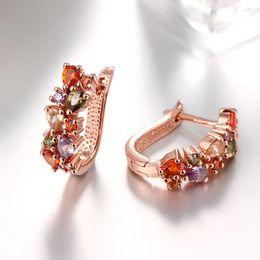 Wholesale Swarovski Jewelry Rose Gold - New 925 Silver Plating Earrings For Women Fashion Jewelry Rose Gold Crown Wedding Stud Earring Swarovski Elements Jewelry