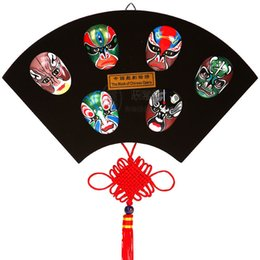 Wholesale Dragonfly Wall - Large Peking Opera mask, fan wall pendant, home office decorations, traditional gifts, business gifts