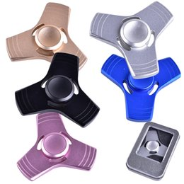 Wholesale Educational Science - New EDC Tri-Spinner Fidget Toys Pattern Hand Spinner Aluminum Alloy Fidget Spinner and ADHD Adults Children Educational Toys dhl OTH351