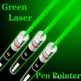 Wholesale Laser Lights Pens - 5mW 532nm GREEN Light Beam Laser Pointer Pen good SOS Mounting Night Hunting Teaching Lights Pointers ppt Without Package