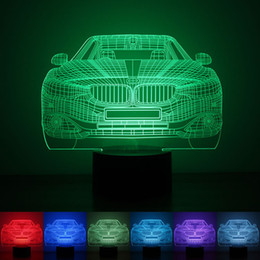 Wholesale Table Lamps Led Lighting - Gift 3D Birthday Gradient Night Light Touch Contral Stereo Colored Acrylic Light Energy Night Lamp Table Lights