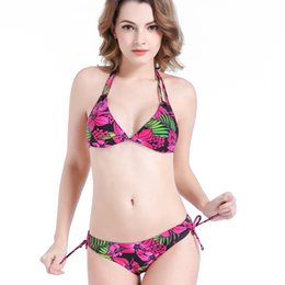 dae5183748a bikini fat Canada - Large size bikini fashion sexy island edge fake fat MM  triangular swimsuit