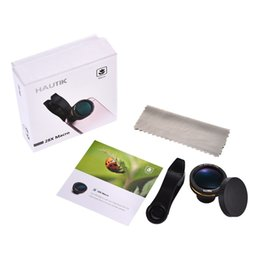 Wholesale Glasses For Fishing - 28X Macro Lens HD FGMC Optical Glass Fish Eye Lens Camera Len HK003 For Mobile Phone Pad With Retail Package