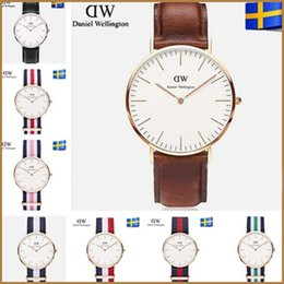 Wholesale Brand Wrist Watches For Men - 2017 New Daniel Wellington DW watch men luxury branded watches for women fashion watch leather brown Casual Wrist watches