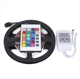 Wholesale Pc Par - 3528 RGB Waterproof LED Strip 5M 300LED SMD+ 24Key IR Remote Controller Changeable LED Strip Light for decoration Home and Christmas par