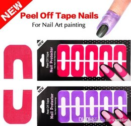Wholesale Gel Nail Stamps - New Plastic Peel Off Tape Palisade Nail Protector Easy Fast Clean for Nail Art Painting Polish UV Gel Stamping Plate Tools