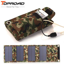 Wholesale External Power Source - Wholesale-Portable Outdoor 8w Foldable Folding Solar Panel Pack Power Source Charging External Mobile USB Battery Charger for SmartPhones