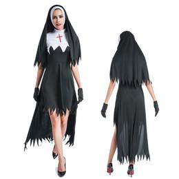 Wholesale Sexy Nun Uniform - New Hot sell LADIES New Ladies Naughty Nun Sexy Sister Habit Hen Night Fancy Dress Halloween Costume outfit 89334 S,M,L,XL