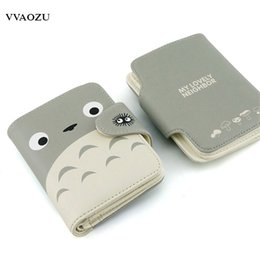 Billetera totoro online-Al por mayor-Mi Vecino Totoro Wallet Lovely Cat Japanese Anime monedero corto Hasp Ladies Wallet Card Holder para estudiantes
