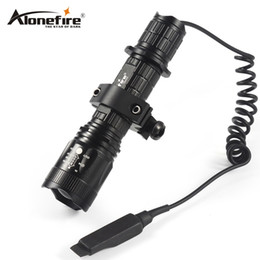 Wholesale Pressure Switch Flashlight - AloneFire TK400 Tactical Flashlight L2 LED Torch Lamp Flash Light Lantern with Mount Remote Control Pressure Switch by 18650