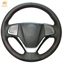 Wholesale Honda Crv Car Cover - Mewant Black Leather Car Steering Wheel Cover for Honda CRV CR-V 2012 2013 2014 2015