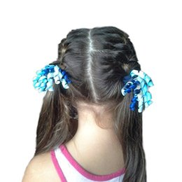 Wholesale Color Elastic Pony Tail Holder - 59 color 3 inch Boutique Girls Grosgrain Ribbons curled Korker Hair Bow Pony Tail Holder Elastic Head Loop 50pcs