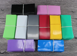 Wholesale Film Wrapper - Colorful PVC Battery wraps for 18650 protective skin heat shrinkable film insulation cover stickers wrapper for Sony vtc4 vtc5 DHL Free