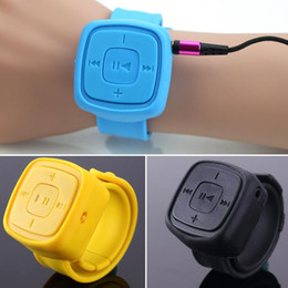 Wholesale Only Mp3 Player - Wholesale- Portable Sport Mini wrist Mp3 Player 32G no screen Bracelet Mp3 Music Player With Micro TF Card Slot (MP3 ONLY)