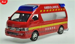 Wholesale Toys Model Fire Car - 1:32 Scale Diecast Alloy Fire Ambulance Car Model For TOYOTA Himedic (Hiace) Collection Model Pull Back Toys Car Sound&Light