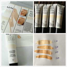 Wholesale Cream Bb Product - 24pcs NYX Concealer BB Cream 30g Moisturizing Foundation 4 Color Naked Makeup Base Isolation Body Concealer Cream Beauty Product