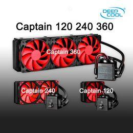 Wholesale Aluminum Bearing - DEEPCOOL CAPTAIN Water Cooling Liquid Cooler PWM Cooler Fan LGA2011-V3 2011 1366 1156 1155 1151 1150 FM2+ FM2 FM1 AM3+ AM3 AM2+ AM2