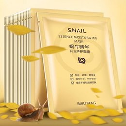 Wholesale Mask Essence - BISUTANG Snail Essence Moisturizing Mask Whitening Mask Oil Control Facial Masks Smooth Face Mask Skin Care