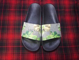 Wholesale Eva Flowers - Latest style flowers print slide sandals for mens and womens with many colors fashionable leather Slipper On Sale