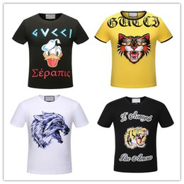 Wholesale Designer Men Casual Shirts - 2017 New Fashion Brand T-shirt Star Designer Spring Summer Color Sleeves Vacation Short Sleeve Tees Casual Letters Printing Tops